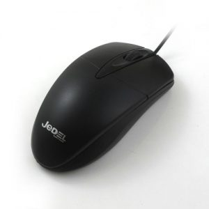 Black Wired Optical Mouse